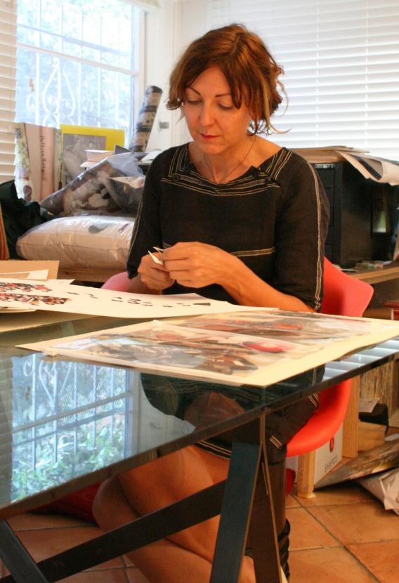 Bettina at desk